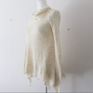 Anthropologie Sleeping On Snow Cowl Neck Ribbed